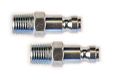 Primefit TP1414MS-2 1/4-Inch Automotive Steel Plug Set with 1/4-Inch Male NPT, 2-Pieces