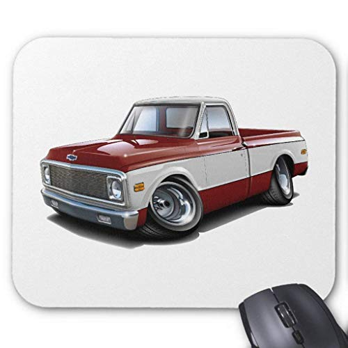JTNF 1970-72 Chevy C10 Maroon-White Truck Mouse Pad for sale  Delivered anywhere in Canada