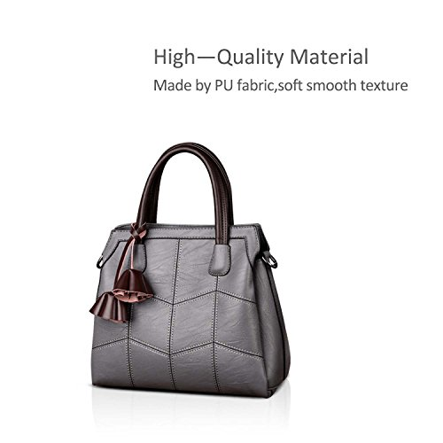 for Women Shoulder Pink Female Gray Bag Light Lovely NICOLE Trendy Crossbody Bronze Leather amp;DORIS B Handbags t8cqxHA7