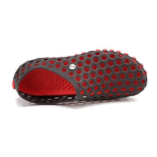 EnllerviiD Men Quick Dry Water Shoes Slip On Beach Sandals Garden Clogs Shoes 2189 Black lll3oV