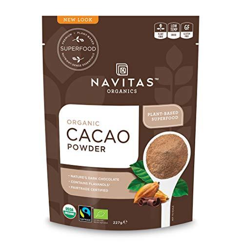 Navitas Organics Cacao Powder, 8oz. Bag - Organic, Non-GMO, Fair Trade, Gluten-Free (Benefits Of Pure Cocoa Butter On Skin)