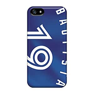 Shock Absorption Hard Phone Case For Iphone 5/5s With Allow Personal Design Beautiful Toronto Blue Jays Pattern JohnPrimeauMaurice
