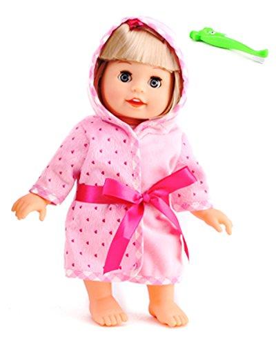 "Belinda Brush Teeth Doll 12"" Interactive Vinyl Dolls Singing Talking Cuddly Baby with Shaking Head"