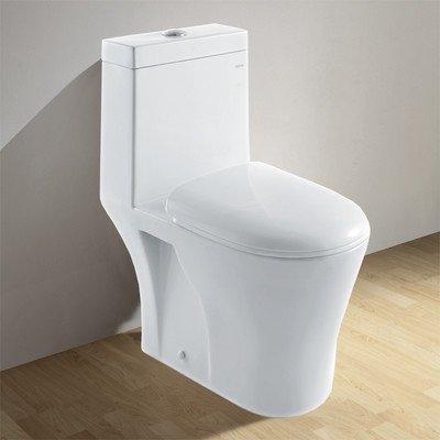 Ariel CO1034 Contemporary European Toilet with Dual Flush - White