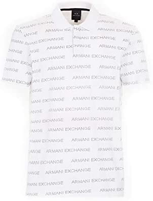 Armani Exchange Polo con SCRITTE Logo 3GZFAE Bianco XS: Amazon.es: Ropa y accesorios