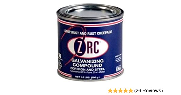 ZRC 10002 Cold Galvanizing Compound | Single Quart | Iron and Steel  Corrosion Protection | Matches Hot-Dip Galvanized Performance | Contains