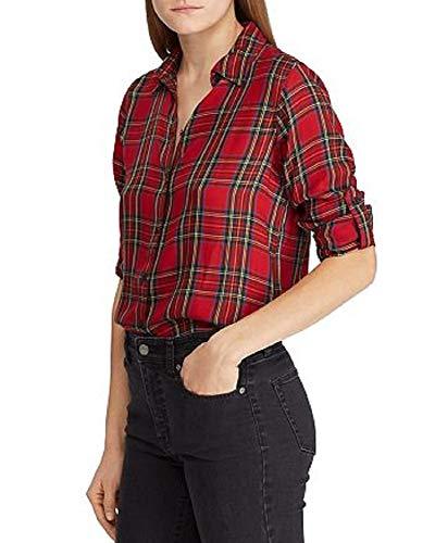 Ralph Lauren Lauren Tartan Twill Shirt RED Multi S