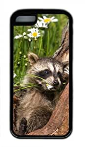 Baby Raccoon 010 Iphone 5C Rubber Shell with Black Edges Cover Case by Lilyshouse