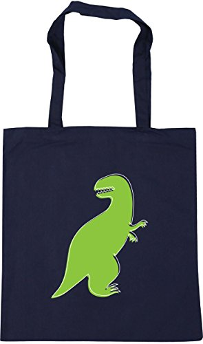 HippoWarehouse French litres Shopping x38cm 10 Green 42cm Beach Dinosaur Bag Tote Navy Gym illustration 77rPg