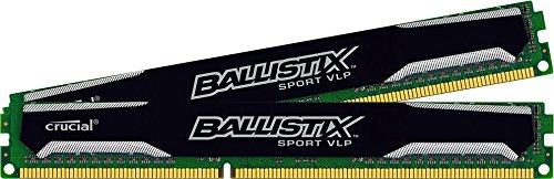 Ballistix Sport 8GB Kit (4GBx2) DDR3-1600 Very Low Profile UDIMM 240-Pin Memory BLS2K4G3D1609ES2LX0