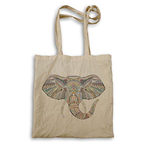 Innoglen Beautiful Elephant Geometric Ethnic Collection Handbag W809r