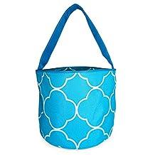Ever Moda Teal Blue Moroccan Bucket Bag