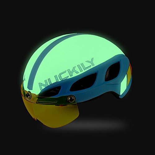NUCKILY Luminous Cycling Helmet Hard Shell EPS Liner CE Standard Safety Protection White Review