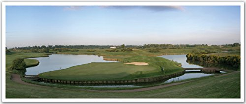 "JP London PAN5235 uStrip 18th Hole Albatross Golf Course High Resolution Peel Stick Removable Wallpaper Sticker Mural, 48"" Wide by 19.75"" High"