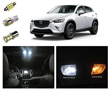 2016 2017 Mazda CX 3 LED Package Interior + Reverse Lights (8 Pieces