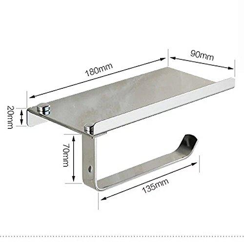 Risingmed Support de Papier Toilette Chrome Porte-Papier de Toilette WC, Porte-Rouleau de Papier Toilette en Acier Inoxydable (nature)