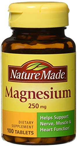 - Nature Made Magnesium 250 mg Tablets 100 ea (Pack of 3)