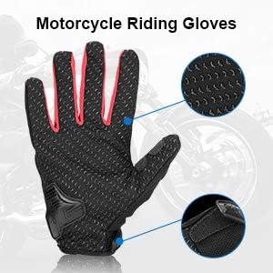 Motocross Gants Scooter Unisexe Anti-Glissant Anti-Usure Tactile Respirable pour Auto Moto Gants Moto V/élo