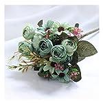 JIAHUAHUHH-Single-Bundle-of-European-Artificial-Flowers-Fake-Flowers-Single-Decorative-Silk-FlowersOil-Painting-Camellia-Green27cm