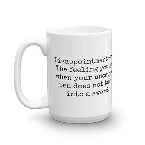 Percy Jackson Disappointment 15 Oz Classic Coffee Mugs, C-handle And Ceramic Construction. 15 Oz Mugs Makes The Perfect Gift For Everyone