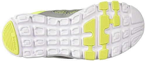 10 Tin Reebok Women's Yourflex Trainer Trainette MT White Solar Cross Grey Yellow 6t6fnq0w