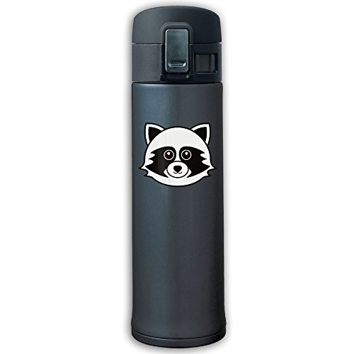 Stainless Steel Mug Brown Raccoon Bouncing Cover Insulation Vacuum Cup Bottle Thermos Travel Mug Navy