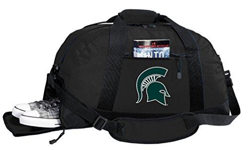 Broad Bay NCAA Michigan State University Duffel Bag - Michigan State Gym Bags w/Shoe -