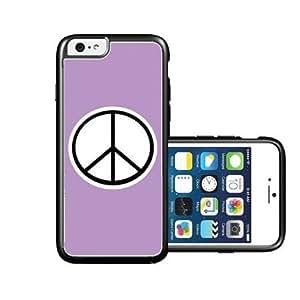 RCGrafix Brand Peace Violet Plain White iPhone 6 Case - Fits NEW Apple iPhone 6