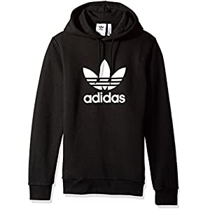 adidas Men's Originals Trefoil Warm-up Hoodie, Black, L
