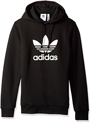 (adidas Originals Men's Trefoil Hoodie, Black, Large)