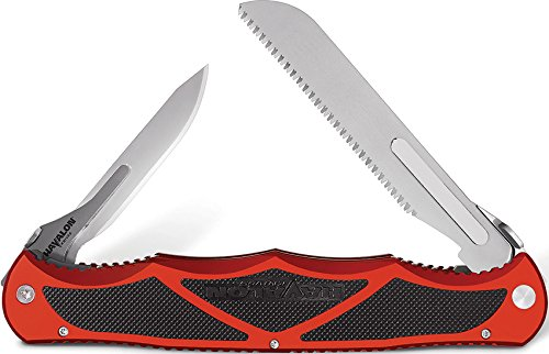 Havalon Knives 9004759 Hydra Double Blade Folding Knife, Brick Red