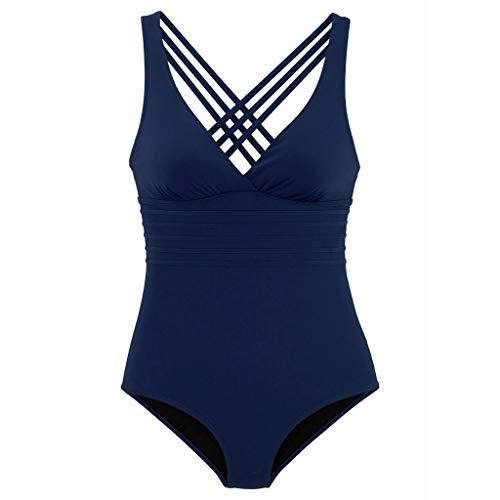 Solid nbsp;siamés nbsp;sin Baño Espalda De Playa Color nbsp;conjunto nbsp;ropa Bikini Mujeres Traje nbsp;sexy Verano Azul H8wOBdw