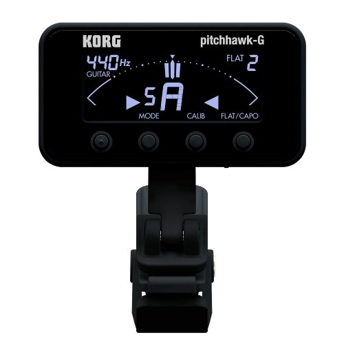 Korg PitchHawk-G (AW-3G) Clip-On Tuner for Guitar and -
