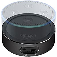Echo Dot Battery, LightingWill Portable Battery Base for 2nd Generation Echo Dot, 5200 mAh Intelligent Battery Pack-Black