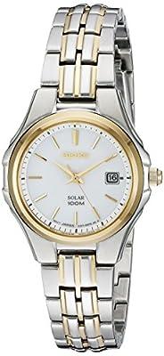 Seiko Women's SUT222 Ladies Dress Solar-Powered Two-Tone Stainless Steel Watch by Seiko Watch Corporation