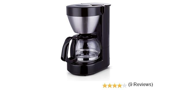 color blanco 600W 650 ml capacidad para 4 a 6 tazas TM Electron Cafetera de jarra con filtro por goteo