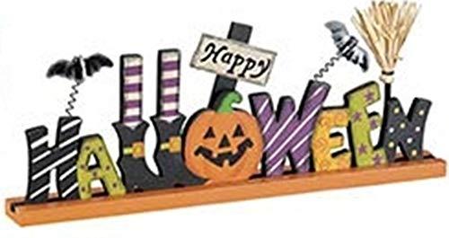 Halloween Tabletop Block Letter Sign - Happy Halloween