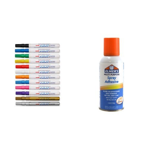 uni Paint Markers in Assorted Colors, 12 Count, Elmer's S...
