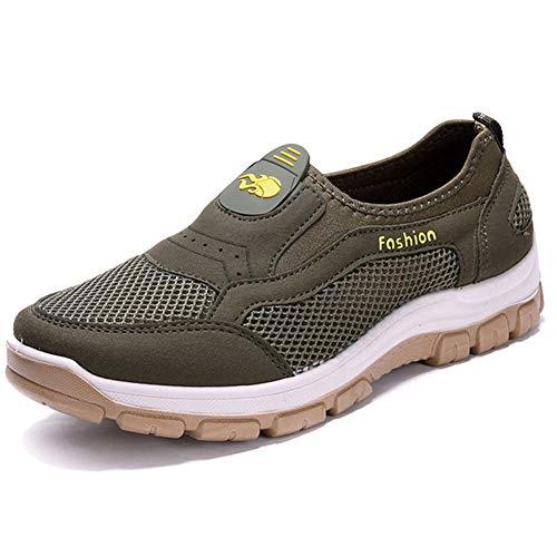 Chaussure Toile Respirant Été Au Homme Marche Plein Air Basse Enfiler Loisir De Vert En A Xiguafr Souple 10YxBwqd1