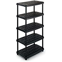 Terry Ts1000518 Extra Deep Plastic Shelf Unit With 5 Ventilated Tiers