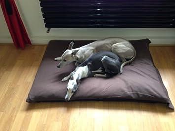 kosipet® Marrón Polar extra grande romboide Memory Foam Deluxe – Cojín Impermeable Cama para perro