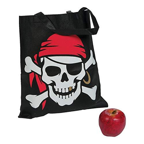 Fun Express Pirate Tote Bags - 12