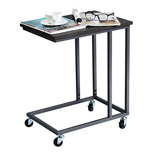 lunanice Furniture Home Office Laptop Holder Sofa Side End MobileTable Multiple Stand Desk Notebook Beside Grey Size: 20''(L) X 14''(W) X 24''(H) Weight Capacity of Tabletop 55 lbs