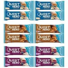 Quest HERO Protein Bar Variety Pack Vanilla Chocolate Blueberry 4 of Each Flavor