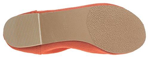 Flat Elastic Shoes Orange AnnaKastle Daily Suede Ballet Vegan Womens 6tnn7q0CX