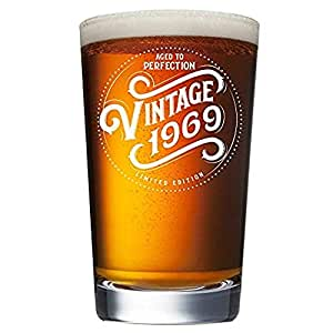 Amazon 1969 50th Birthday Gifts For Men And Women Beer Glass