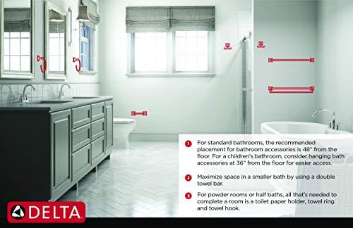 "Delta Faucet 70050-OB Windemere Toilet Paper Holder, 24"" Towel Bar, Oil Rubbed Bronze"