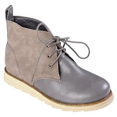 Brinley Co. Womens Lace-Up Chukka Two-Tone Ankle Boots