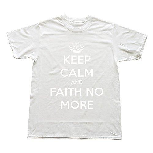 Goldfish Men's Fashion Casual Faith No More T-Shirt White US Size L