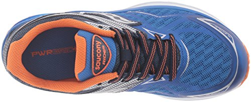 Saucony Ride 9 Running Shoe (Little Kid/Big Kid) Blue/Orange